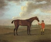 Francis Sartorius The Racehorse 'Basilimo' Held by a Groom on a Racecourse china oil painting reproduction