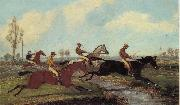 Henry Alken Jnr Over the Water,Past a Marker over the Ditch china oil painting reproduction