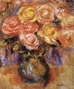 Pierre Renoir Vase of Roses china oil painting reproduction