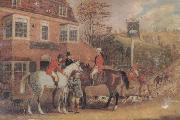Pollard, James A Meet Outside The Swan inn china oil painting reproduction
