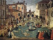 BELLINI, Gentile Miracle of the True Cross china oil painting reproduction