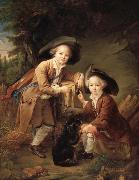 Francois-Hubert Drouais The Comte and chevalier de choiseul as savoyards china oil painting reproduction