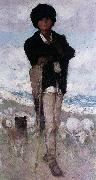 Nicolae Grigorescu Young Shepherd with his Dog china oil painting reproduction