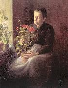 Lord, Caroline A. Woman with Geraniums china oil painting reproduction