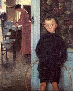 Mathey, Paul Woman Child in an Interior china oil painting reproduction