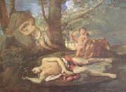 Nicolas Poussin E-cho and Narcissus (mk05) china oil painting reproduction