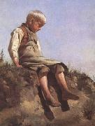 Franz von Lenbach Young boy in the Sun (mk09) china oil painting reproduction
