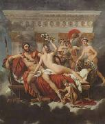 Jacques-Louis David Mars disarmed by venus and the three graces (mk02) china oil painting reproduction