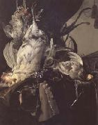 Aelst, Willem van Still Life of Dead Birds and Hunting Weapons (mk14) china oil painting reproduction