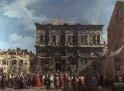Canaletto Visita del doge alla chiesa di S Rocco (mk21) china oil painting reproduction