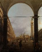 Canaletto Piazza S.Marco verso la basilica,dall'angolo nord-oves (mk21) china oil painting reproduction
