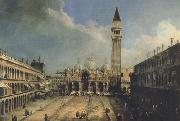 Canaletto Piazza S.Marco con la basilica di fronte (mk21) china oil painting reproduction