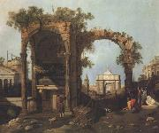 Canaletto Paesaggio con rovine (mk21) china oil painting reproduction