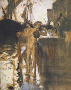 John Singer Sargent Two Nude Bathers Standing on a Wharf (mk18) china oil painting reproduction