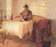 Anna Ancher Breakfast Before the Hunt (nn02) oil