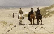 Anton mauve Riders on the Beach at Scheveningen (nn02) oil