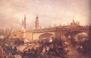 Clarkson Frederick Stanfield The Opening of London Bridge (mk25) china oil painting reproduction