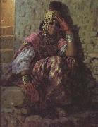 Etienne Dinet Une Ouled Nail (mk32) china oil painting reproduction