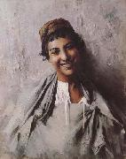 Georges Gaste Jeune fille souriant (mk32) china oil painting reproduction