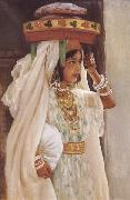 Henry d Estienne Jeune fille arabe Portant le pain (mk32) china oil painting reproduction
