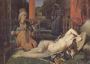 Jean-Auguste Dominique Ingres Odalisque avec esclave (mk32) china oil painting reproduction