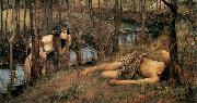 John William Waterhouse A Naiad (mk41) china oil painting reproduction