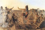 Otto Pilny Spectacle dans le desert (mk32) china oil painting reproduction