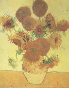 Vincent Van Gogh Still life:Vast with Fourteen Sunflowers (nn04) china oil painting reproduction