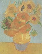 Vincent Van Gogh Still life:vase with Twelve Sunflowers (nn04) china oil painting reproduction