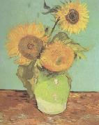 Vincent Van Gogh Three Sunflowers in a Vase (nn04) china oil painting reproduction