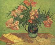 Vincent Van Gogh Still life:Vast with Oleanders and Books (nn04) china oil painting reproduction