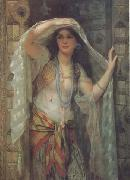 William Clarke Wontner Safe,One of the Three Ladies of Bagdad (mk32) china oil painting reproduction