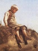 Franz von Lenbach Young Boy in the Sun china oil painting reproduction