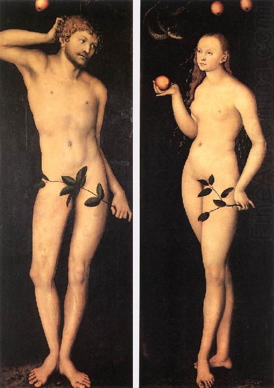 Adam and Eve fh, CRANACH, Lucas the Elder