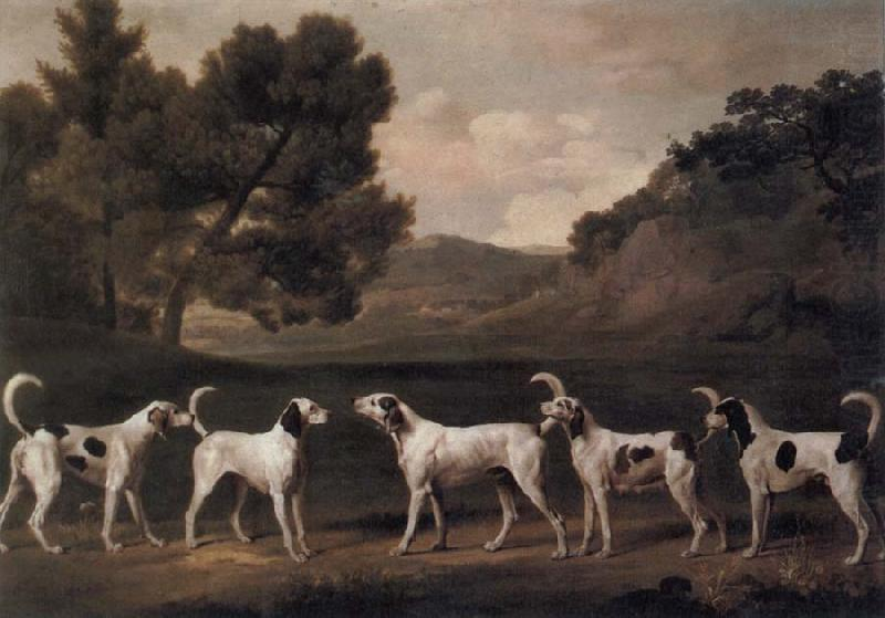 Foxhounds in a Landscape, George Stubbs