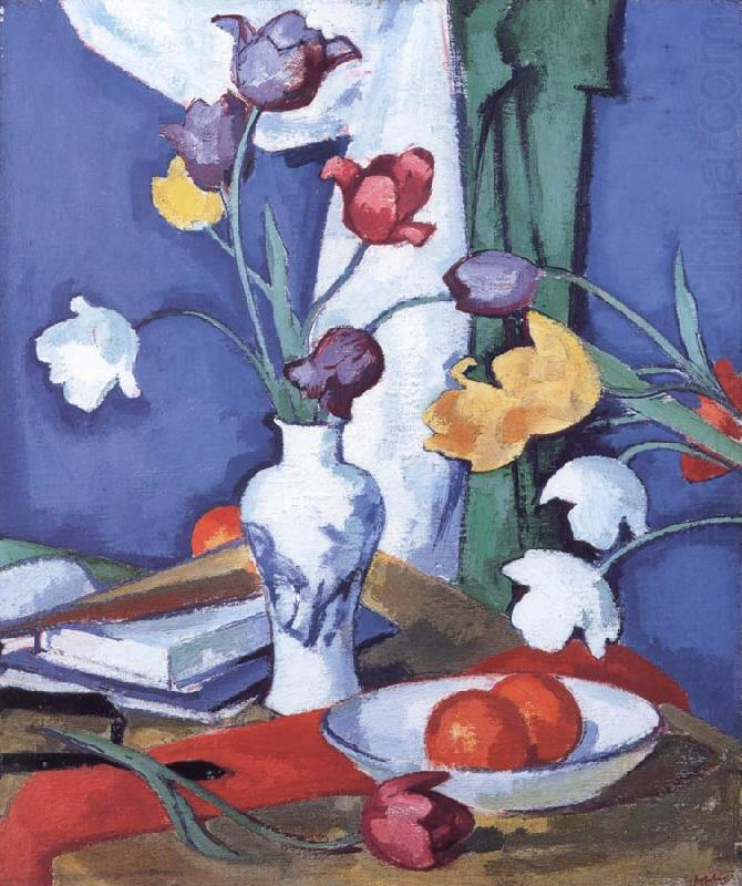 Tulips and Fruit, Samuel John Peploe