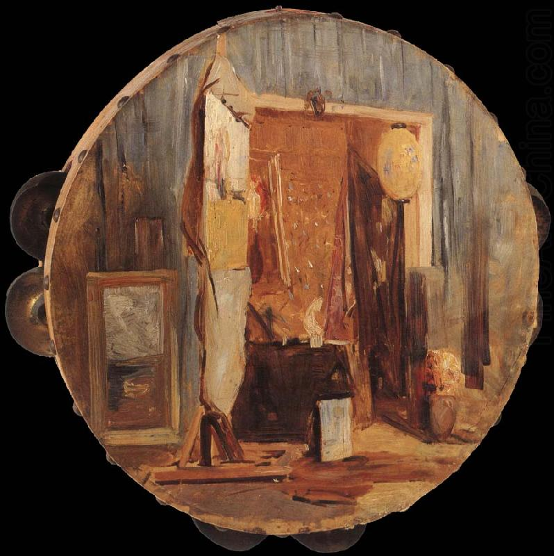in the artist-s studio, Arthur streeton
