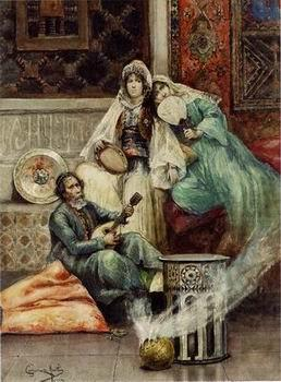 Arab or Arabic people and life. Orientalism oil paintings 617, unknow artist