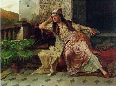 Arab or Arabic people and life. Orientalism oil paintings 614, unknow artist