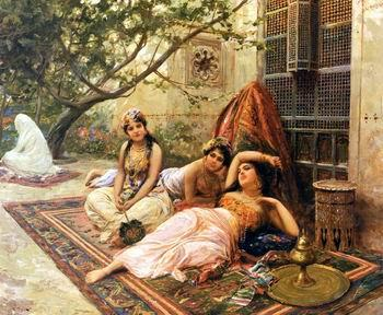 Arab or Arabic people and life. Orientalism oil paintings  505, unknow artist
