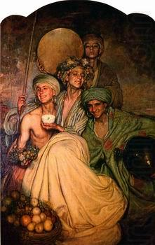 Arab or Arabic people and life. Orientalism oil paintings  543, unknow artist
