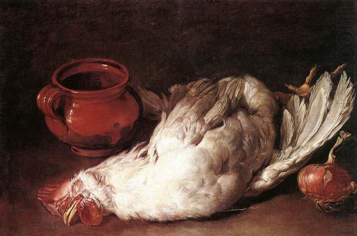 Still-Life with Hen, Onion and Pot, CERUTI, Giacomo