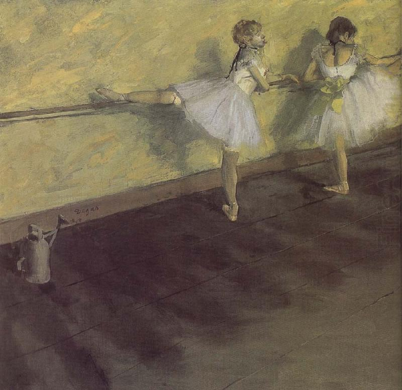ballerina being practising, Edgar Degas
