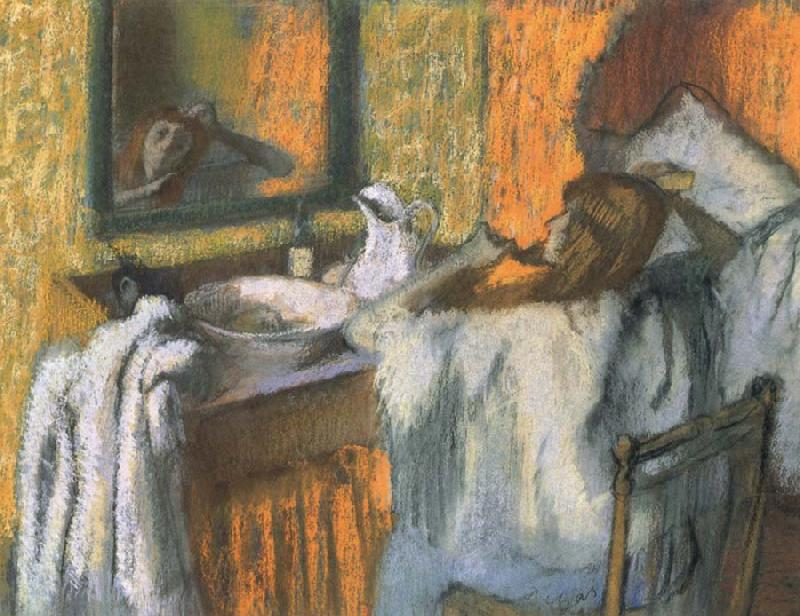 Woman at her toilette, Edgar Degas