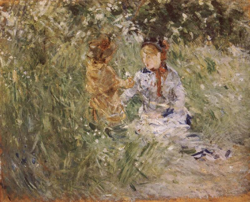 Mother and her son in the garden, Berthe Morisot