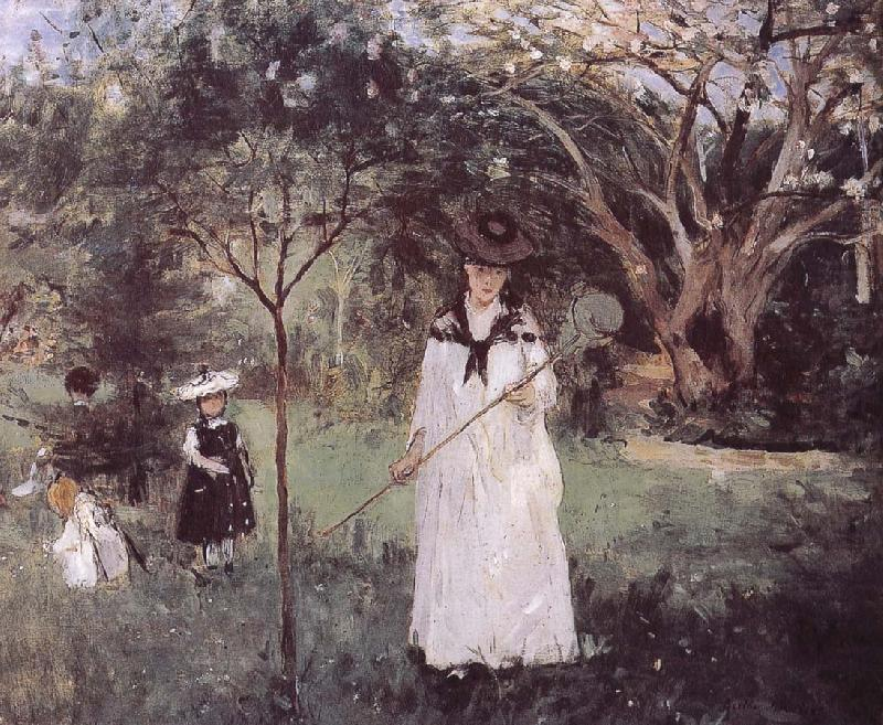 Catching the butterfly, Berthe Morisot