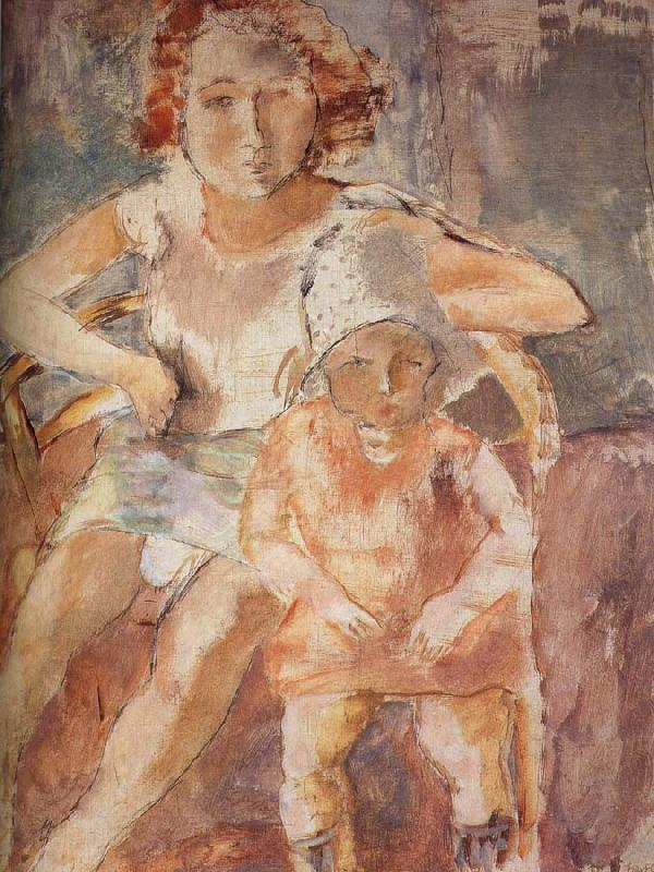 Younger mother with child, Jules Pascin