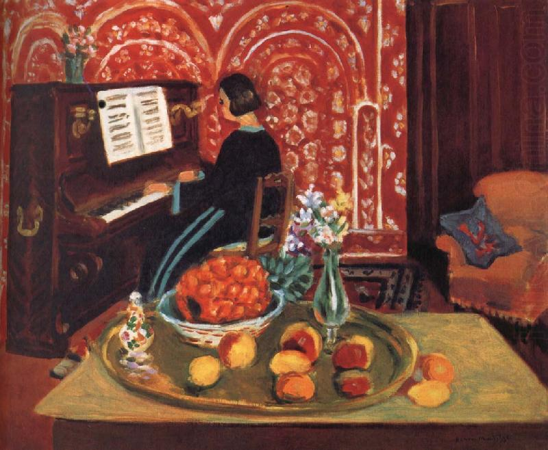 Woman playing the piano and still life, Henri Matisse