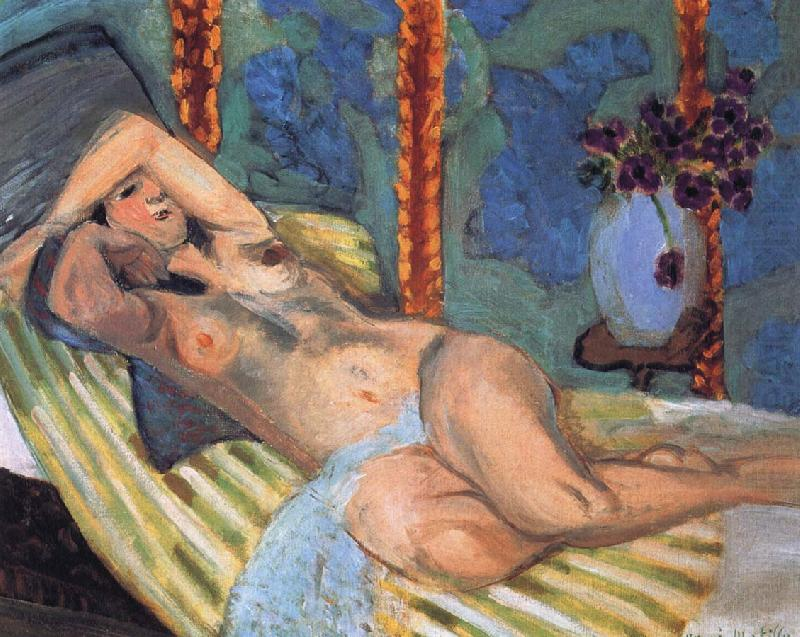 Nude in front of a blue background, Henri Matisse