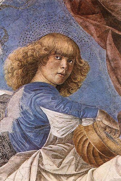 One of Melozzo famous angels from the Basilica dei Santi Apostoli, Melozzo da Forli